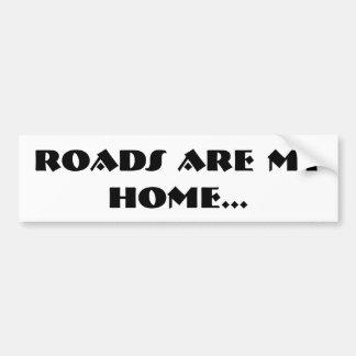 As estradas são minha casa. Autocolante no vidro Adesivo Para Carro