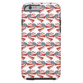 As estrelas patrióticas listram corações 4ns da capa tough para iPhone 6