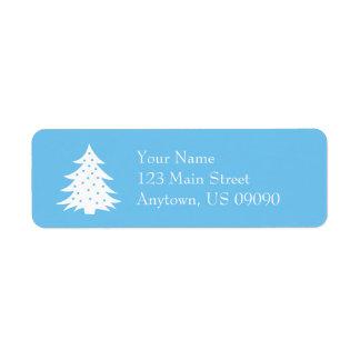 As etiquetas de endereço verdes da árvore de Natal Etiqueta Endereço De Retorno