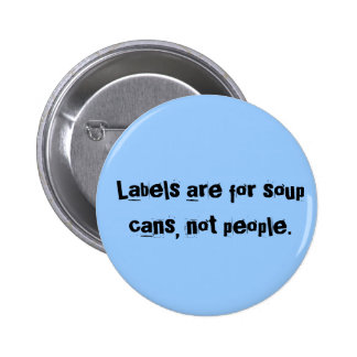 As etiquetas são para latas da sopa, não povos bóton redondo 5.08cm