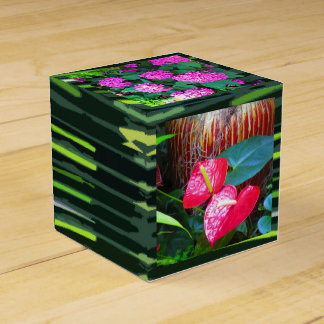 As flores de Longwood jardinam caixa do favor 2x2 Lembrancinhas Para Casamento