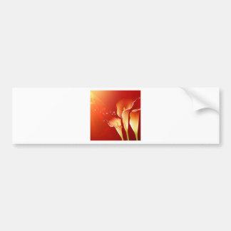 As flores do abstrato aquecem o brilho das cores adesivos