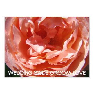 As flores do rosa do rosa salvar o cartão de convite 12.7 x 17.78cm