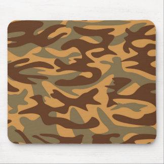 as forças armadas amarelas verdes marrons camuflam mouse pad
