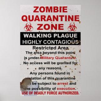As forças armadas da quarentena do zombi assinam poster