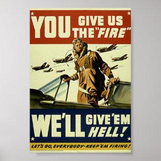 As forças armadas do vintage dão-lhes o poster do