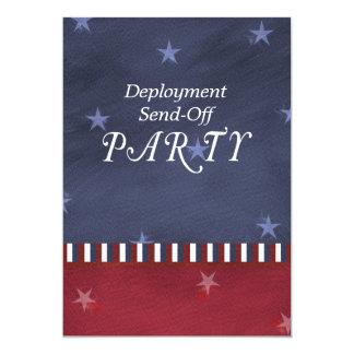 As forças armadas enviam fora do convite de festas