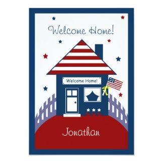 As forças armadas patrióticas da casa dão convites personalizado