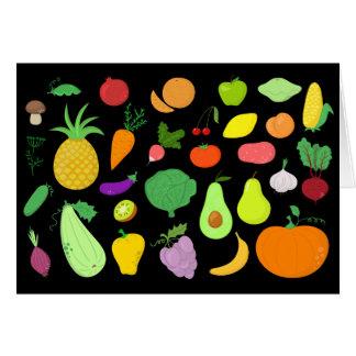 As frutas e legumes anulam o cartão de nota