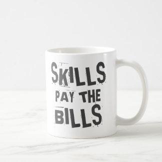 As habilidades pagam as contas caneca