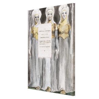As irmãs fatais, projetam 67 'dos poemas do Th Impressão De Canvas Esticadas