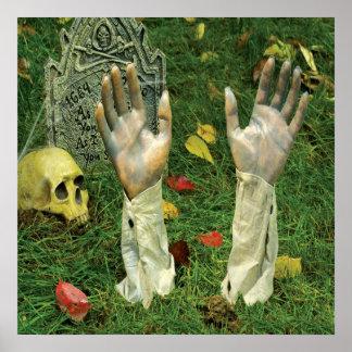 As mãos do poster da decoração do KRW o Dia das Br