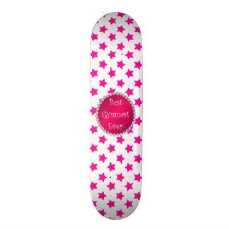 As melhores estrelas do rosa do gymnast nunca shape de skate 20,6cm
