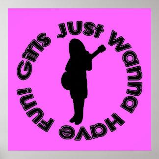 As meninas apenas querem ter o divertimento! Poste Poster