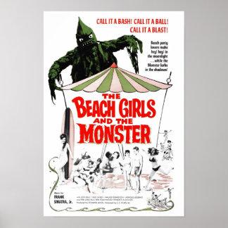 As meninas da praia & o poster do monstro