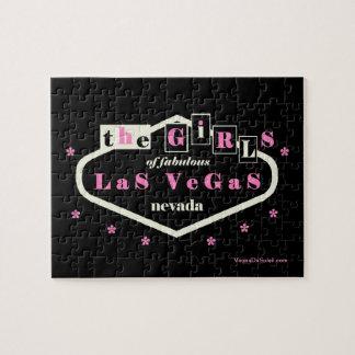 as meninas do quebra-cabeça fabuloso de Las Vegas