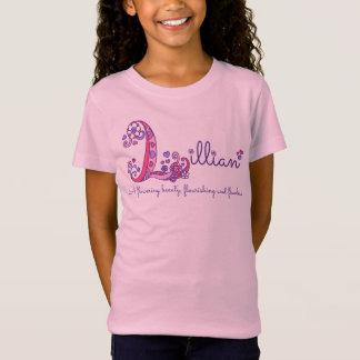 As meninas L monograma conhecido de Lillian do T-shirt