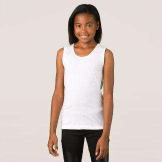 As meninas multam a camisola de alças do jérsei t-shirt