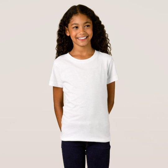 Camiseta infantil feminina de jersey fina, Branco