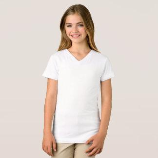 As meninas multam o t-shirt do V-Pescoço do jérsei