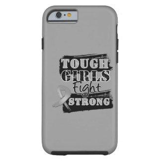 As meninas resistentes do cancro cerebral lutam capa tough para iPhone 6