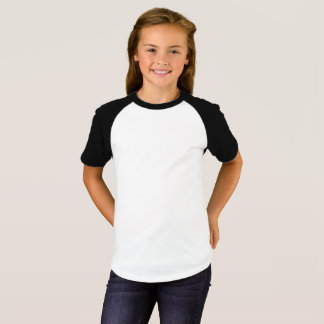 As meninas Short o t-shirt do Raglan da luva