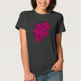 As meninas vivas da degradação t-shirt