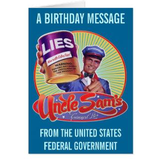 As mentiras enlatadas do tio Sam Cartão