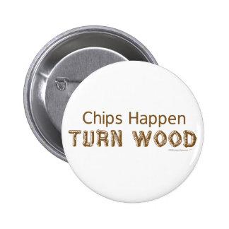 As microplaquetas acontecem botão engraçado de Woo Bóton Redondo 5.08cm