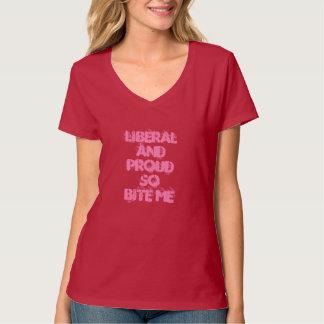 As mulheres liberais & orgulhosas mordem-me assim camiseta