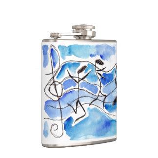 As notas lunáticas da música dançam a garrafa antr