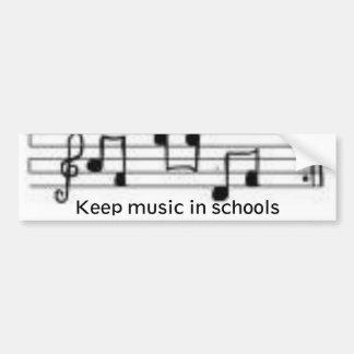 as notas, mantêm a música nas escolas adesivo para carro
