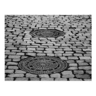 As pedras de pavimentação da câmara de visita de cartão postal