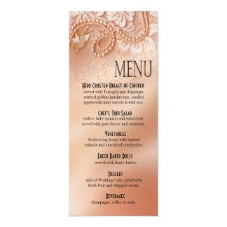 As pérolas e o laço jantam o pêssego perfeito do convites personalizado