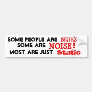 As pessoas são música, ruído ou mas na maior parte adesivo para carro