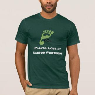As plantas amam minha pegada do carbono camiseta