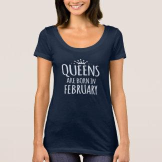 as rainhas são em fevereiro t-shirt nascido do