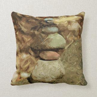 As rochas de equilíbrio abstraem o impressionismo almofada