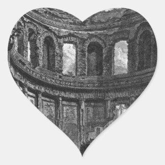 As sobras do templo de Apollo disseram no ` s de Adesivo Coração