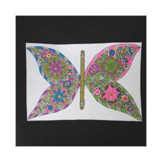 Asas da borboleta de Steampunk Impressão Em Tela