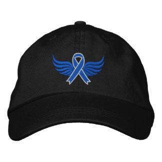 Asas da fita azul do cancro do cólon boné bordado