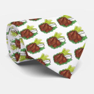 Asas de galinha picantes do búfalo com o laço de gravata
