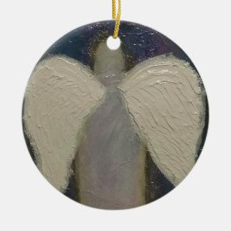 Asas do anjo ornamento de cerâmica