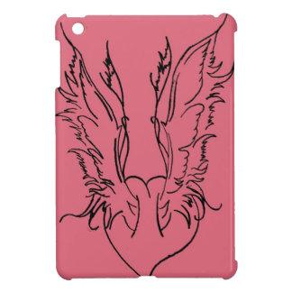 Asas do coração do anjo iPad mini capas