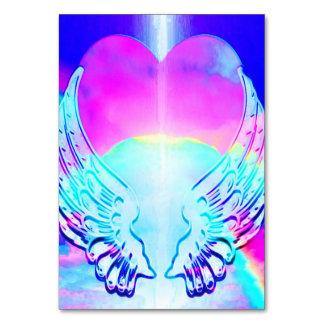 Asas do coração e do anjo do arco-íris