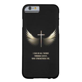 Asas do Espírito Santo e cruz cristã Capa Barely There Para iPhone 6