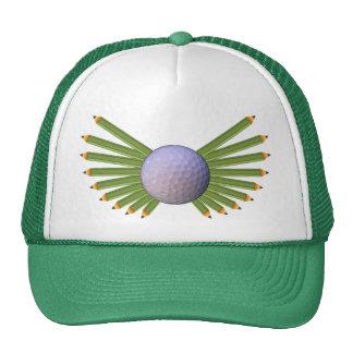 Asas do lápis da bola de golfe boné