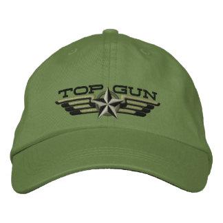Asas do piloto do crachá da estrela de Top Gun Boné Bordado