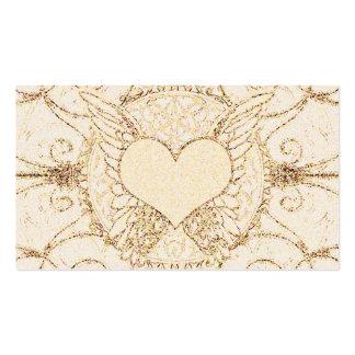 Asas e coração do anjo cartão de visita