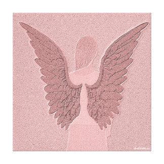 Asas e coração do anjo impressão em tela